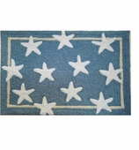 Beach Theme Decor Rugs Star Blue