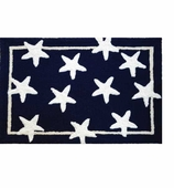 Beach Theme Decor Rugs Star Navy