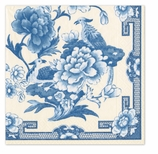 Beverage Napkins Blue and White