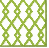 Beverage Napkins Green Trellis