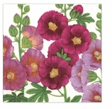 Beverage Napkins Hollyhocks