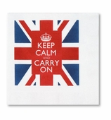 Beverage Napkins Keep Calm 20 Pc