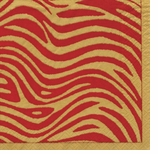 Beverage Napkins Safari Red