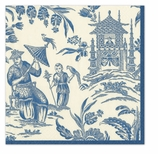 Beverage Napkins Silk Road Blue