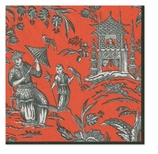 Beverage Napkins Silk Road Coral