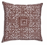 Brown Block Pillow