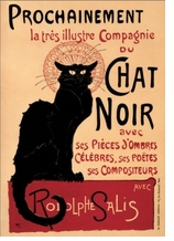 Decorative Art Prints Chat Noir