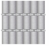 Christmas Crackers Glitter Silver