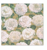 Christmas Dinner Napkins Gold Garden