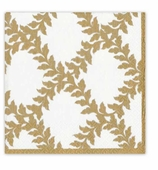 Christmas Dinner Napkins Ivory Crown