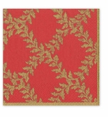 Christmas Dinner Napkins Red Crown