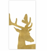 Christmas Hand Towels Antlers Gold