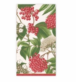 Christmas Hand Towels Berry Ivory
