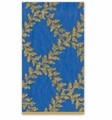 Christmas Hand Towels Blue Crown
