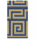Christmas Hand Towels Blue Greek