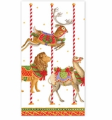 Christmas Hand Towels Carousel