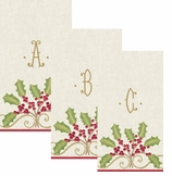 Christmas Hand Towels Embroidered