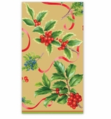 Christmas Hand Towels Gold Trim