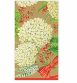 Christmas Hand Towels Hydrangea Gold