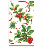 Christmas Hand Towels Ivory Trim