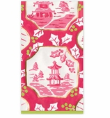 Christmas Hand Towels Pink Pagoda