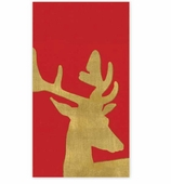 Christmas Hand Towels Stag Red