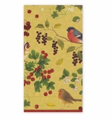 Christmas Hand Towels Winterbirds Gold