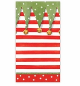 Christmas Hand Towels Xmas Stripe