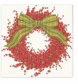 Christmas Napkins Dinner Bows