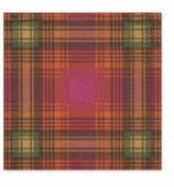 Christmas Napkins Dinner Plaid