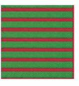 Christmas Napkins Dinner Stripe