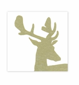 Christmas Napkins Lunch Stag Gold