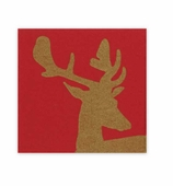 Christmas Napkins Lunch Stag Red