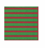 Christmas Napkins Lunch Stripe