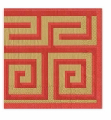 Christmas Napkins Red Greek