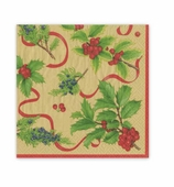 Christmas Napkins Trim Gold