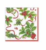 Christmas Napkins Trim Ivory