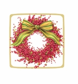 Christmas Paper Plates Dessert Berry Wreath