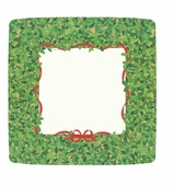Christmas Paper Plates Dinner Boxwood