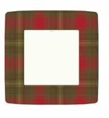 Christmas Paper Plates Dinner Plaid