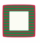 Christmas Paper Plates Dinner Stripe