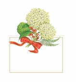 Christmas Place Cards Hydrangea