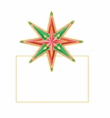 Christmas Place Cards Star