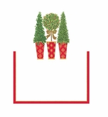 Christmas Placecards Topiaries