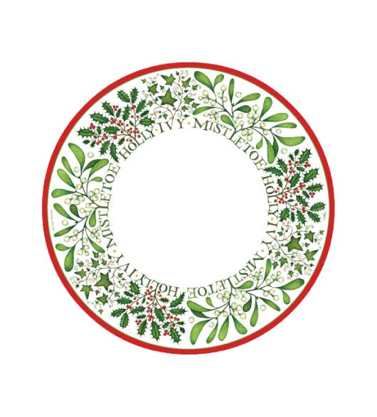 Christmas Plates Dessert Berry  sc 1 st  Decorative Things & Christmas Paper Plates and Napkins