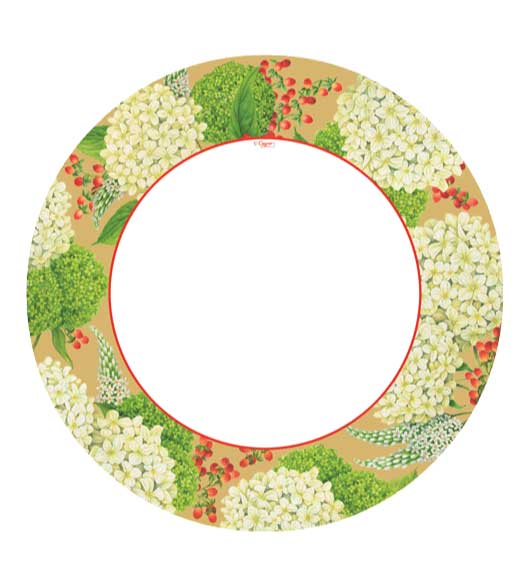 Christmas Plates Dinner Hydrangea  sc 1 st  Decorative Things : paper christmas plates - Pezcame.Com