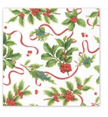Christmas Wrapping Paper Ivory Trim