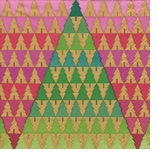 Christmas Zig Zag Tree Lunch Napkins