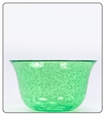 Clear Plastic Bowl - Small- Green