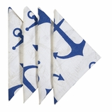 Cloth Napkins Anchor Navy